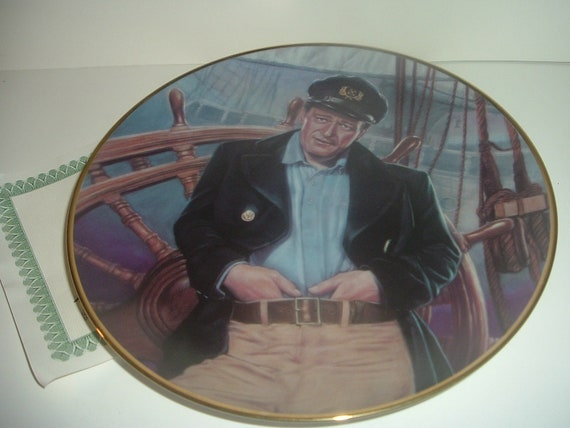 John Wayne Thoughts of Angelique Plate Republic Pictures Wake of Red Witch w COA 1992
