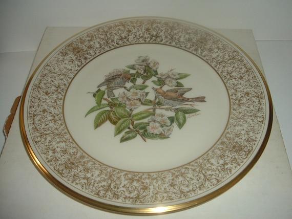 Lenox Boehm Wood Thrush 1st Issue bird Plate 1970
