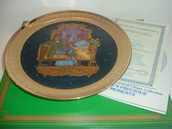 Loves Sweet Verse Precious Moments Plate Royal Cornwall w/ COA and Box 1981