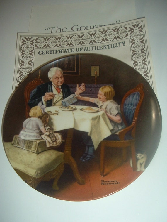 Norman Rockwell The Gourmet Plate 1985 Vintage