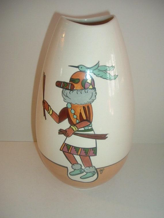 M Peters 1980 Tall Ceramic Pottery Vase Model 133