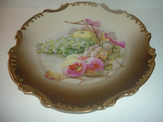 Royal Munich Bavaria Fruit Platter Charger Big Vintage