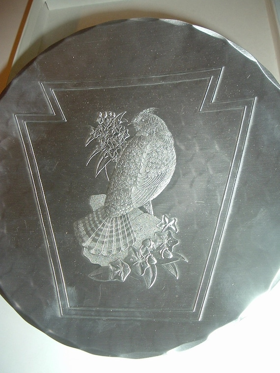 Wendell August Forge Eastern Star 100 years Bird Keystone Commemorative Plate 1994