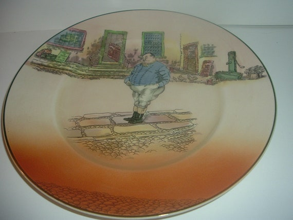 """Royal Doulton Dickensware The Fat Boy 10"""" Plate"""