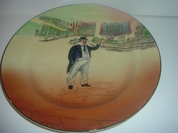"Royal Doulton Dickensware Cap'n Captain Cuttle 10"" Plate"