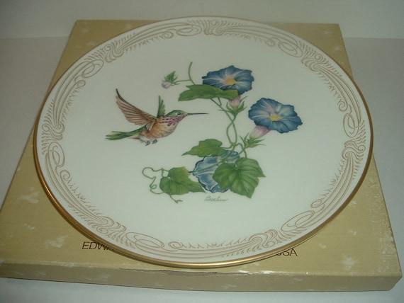 Boehm Calliope Hummingbird Plate