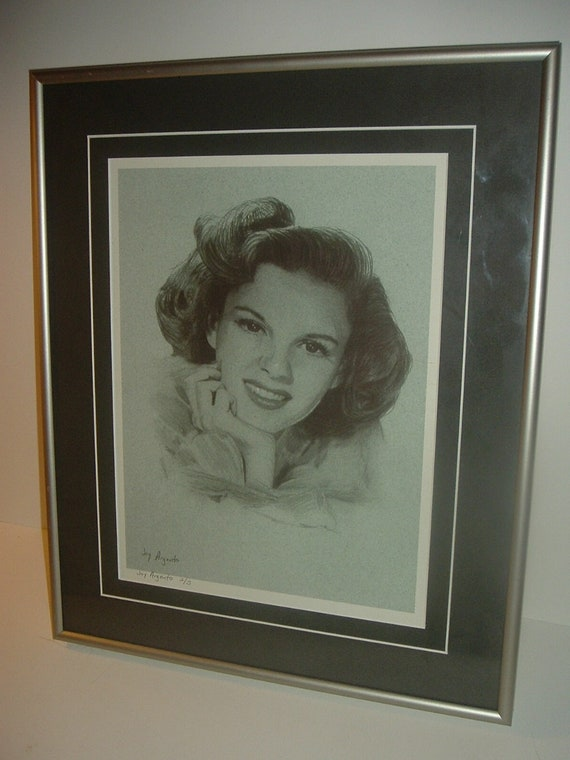 Judy Garland 2 of 5 framed limited edition print by Joy Argento
