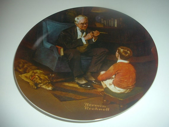 Norman Rockwell The Tycoon Plate 1982 Vintage