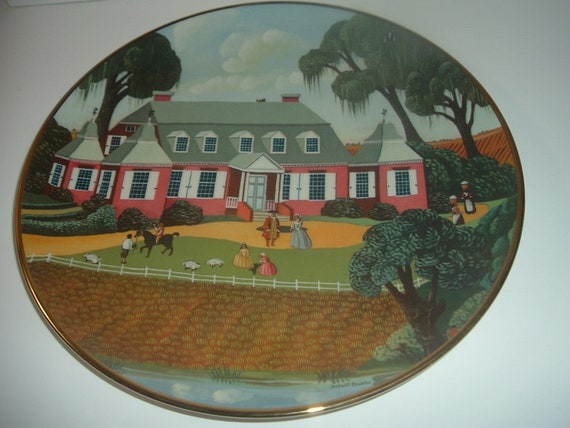Mulberry Plantation Ridgewood China Colonial Heritage Series Robert Franke Plate