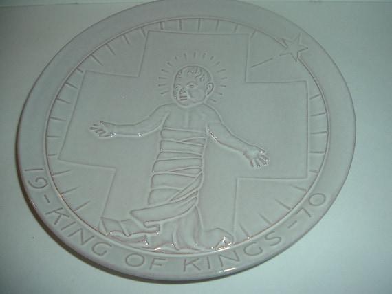 1970 Frankoma Pottery King of Kings Christmas Plate