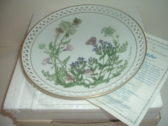 Bing & Grondahl Country Garden October Plate by Linda Thompson w Box COA