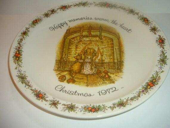 Holly Hobbie Plate Happy Memories Christmas 1972