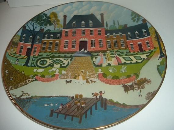 Tidewater Virginia Ridgewood China Colonial Heritage Series Robert Franke Plate