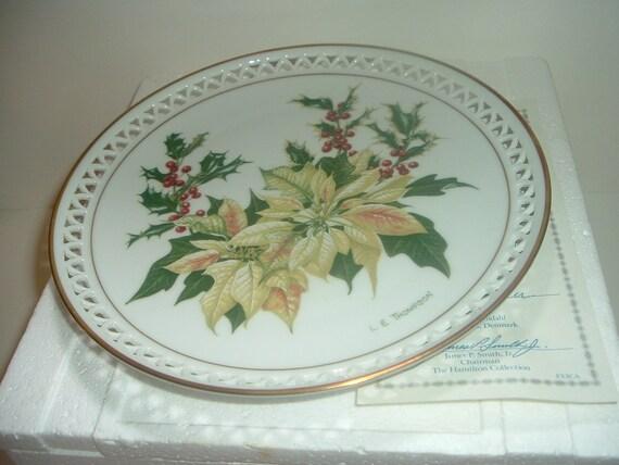 Bing & Grondahl Country Garden December Plate by Linda Thompson w Box COA