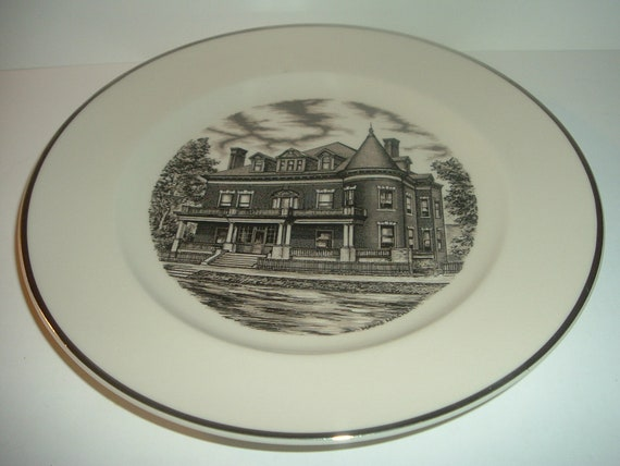 1990 Pottery Festival Plate James Goodwin Home East Liverpool Ohio