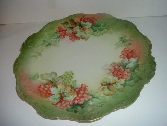 Antique Hand Painted Artist Signed Limoges Charge Plate