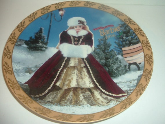 Barbie Holiday Plate 1996 by Enesco