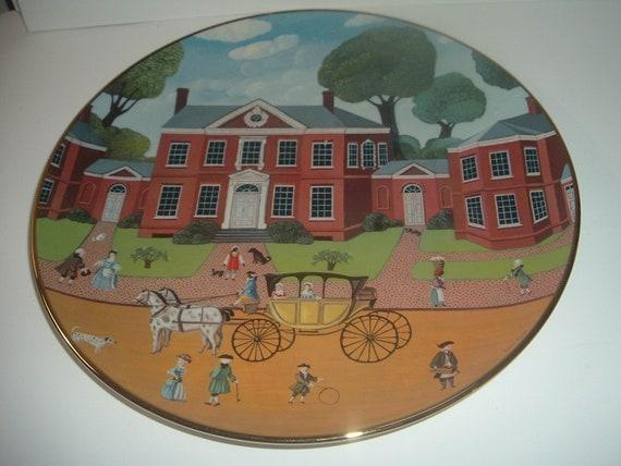 Hammond Harwood House Ridgewood China Colonial Heritage Series Robert Franke Plate