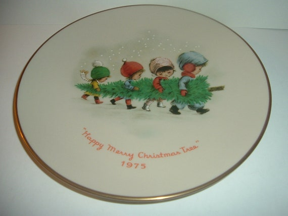 Moppets Christmas Tree Plate 1975 by Gorham China