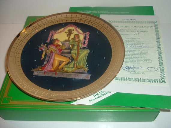 Loves Sweet Vow Precious Moments Plate Royal Cornwall w/ COA and Box 1981