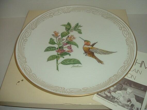 Boehm Rufous Flame Bearer Hummingbird Plate