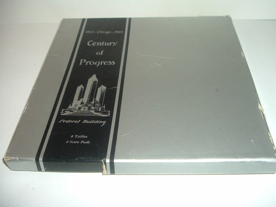 1933 Century of Progress Exposition Chicago Tallies and Score Pad Set Sealed