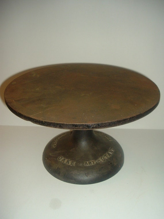Fred Bauer Cake Art Old Cast Iron Cake Stand