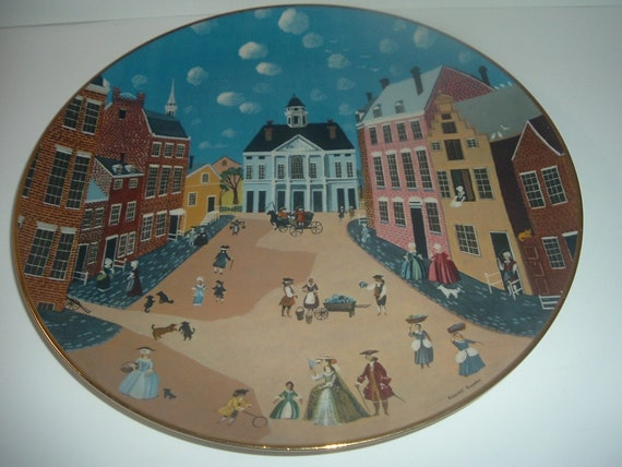 Old New York Ridgewood China Colonial Heritage Series Robert Franke Plate