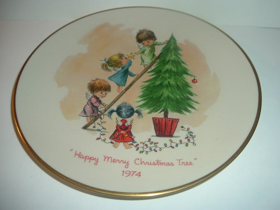 Moppets Christmas Tree Plate 1974 by Gorham China