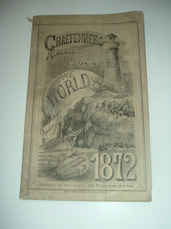 Graefenberg Medicines Almanac Light For The World 1872