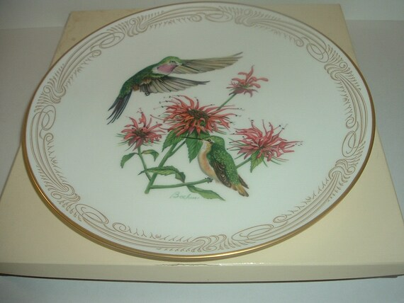Boehm Broad Tailed Hummingbird Plate