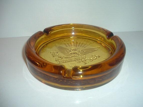 Anchor Hocking Phoenix Glass 1980 Anniversary Ashtray