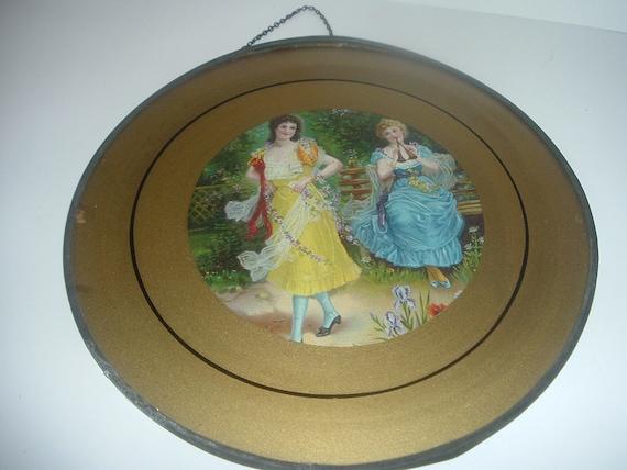 Vintage Flue Cover 2 Victorian Ladies