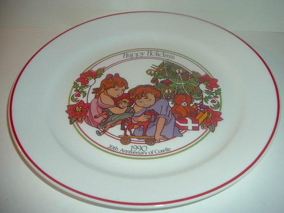 Corelle 20th Anniversary Holiday Plate 1990