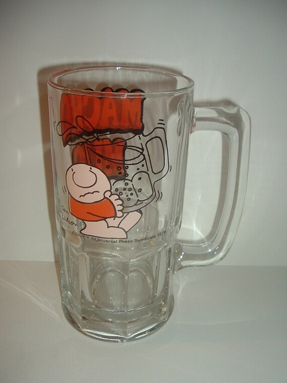 Ziggy Glass Macho Mug Big 1979 Vintage