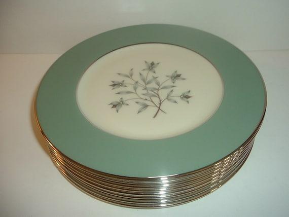 "8 Lenox Kingsley 8 3/8"" Salad Plates"