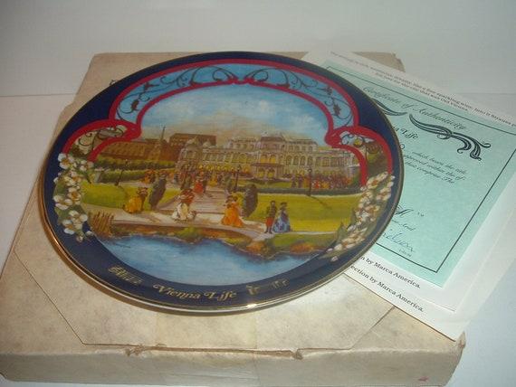 Vienna Life Waltzes Johann Strauss Plate w/ Box and COA