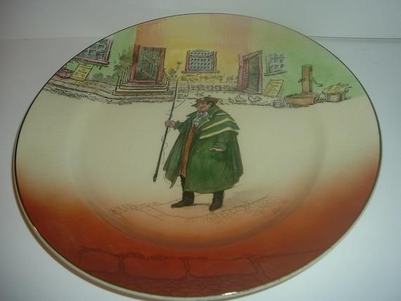 "Royal Doulton Dickensware Tony Weller 10"" Plate"