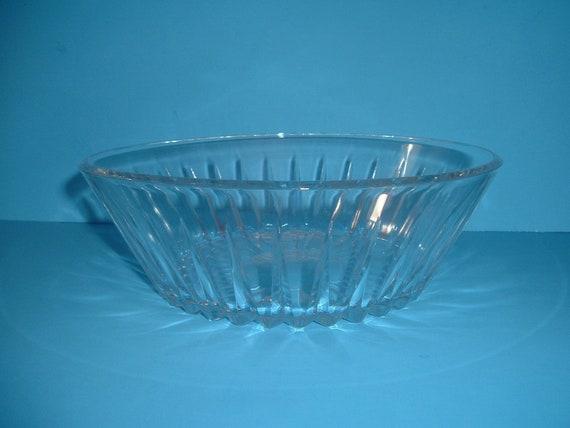 Val St Lambert Crystal Bowl
