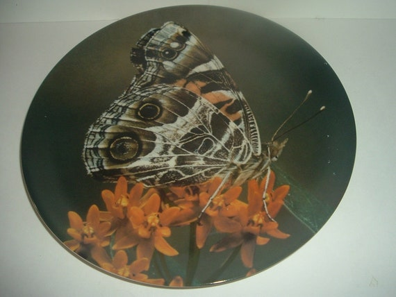 Andre Brault Hunters Butterfly Plate 1972