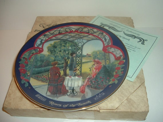 Roses of the South Waltzes Johann Strauss Plate w/ Box and COA