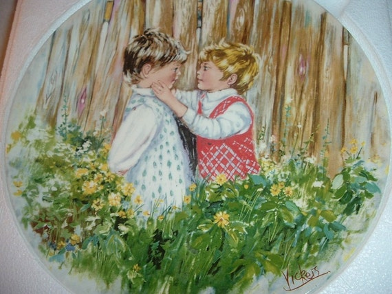 1981 Wedgwood Mary Vickers 1st issue Be My Friend Collector Plate w Box & COA