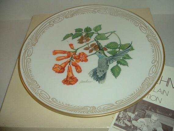 Boehm Blue Throated Hummingbird Plate