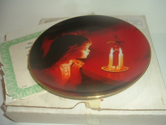 Pemberton Oakes Donald Zolan Candlelight Magic Christmas Plate w Box COA