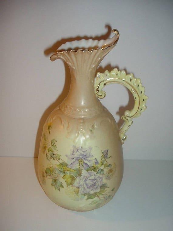 Vintage 10 Inch Porcelain Ewer Vase