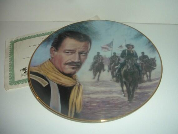 John Wayne The Ride Home Rio Grande Plate Republic Pictures w COA 1991