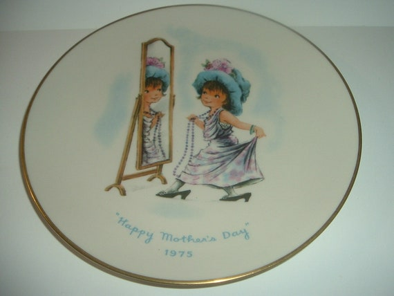 Moppets Mothers Day Plate 1975 by Gorham China