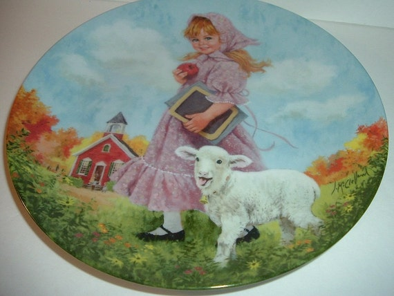 Reco Mary Had Little Lamb Mother Goose Series John Mc Clelland Plate 1985