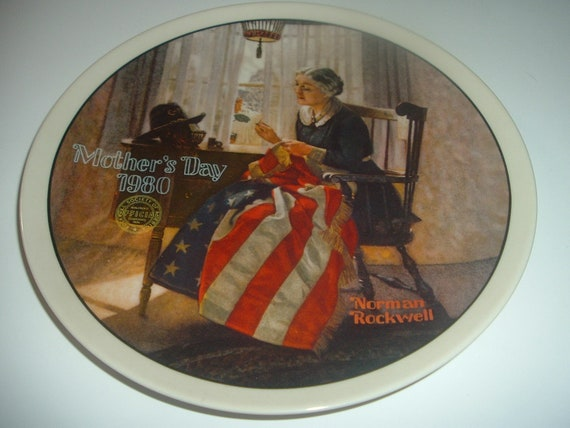 Norman Rockwell A Mothers Pride Mothers Day Plate 1980 Vintage