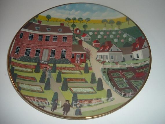 Pennsbury Manor Ridgewood China Colonial Heritage Series Robert Franke Plate